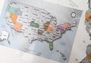 Scratch Off Travel Map of the United States